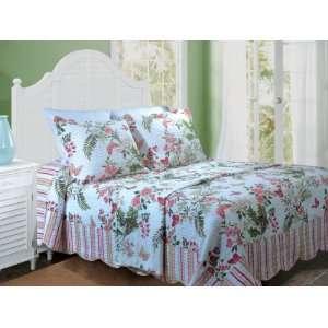 Greenland Home Fashions Secret Garden King 3 Piece Bedspread Set Home
