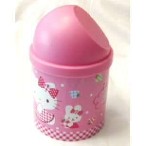 Sanrio Hello Kitty Trash Can (Round) Pink size 6.5 tall x