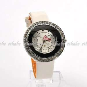 Hello Kitty Round Wrist Watch Wristwatch White Toys & Games