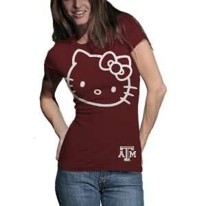 Aggies Hello Kitty Inverse Junior Crew Tee Shirt