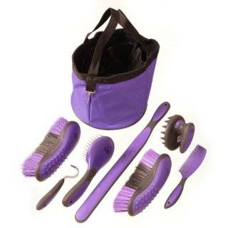 Derby Premium Comfort Horse Grooming Kit 9 Items Purple