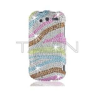 HTC MyTouch 2010 4G Full Diamond Bling Rainbow Zebra Hard Case