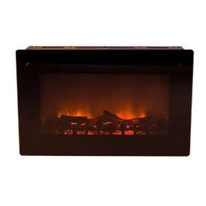 Black Metal Wall Mounted Indoor Electric Fireplace