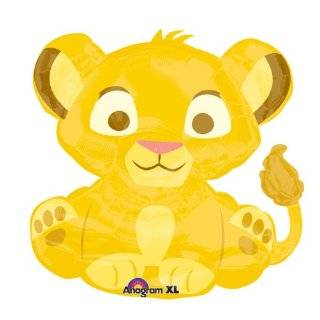 25 Baby Simba Lion King Balloon Baby Shower Birthday Party Supplies