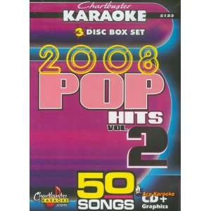 Chartbuster Karaoke CDG 3 Disc Pack CB5123   2008 Pop Hits Vol. 2 CDG