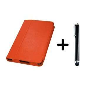 ® Dark Orange Color Kindle Fire 3G WiFi PU Leather Stand Case/Cover