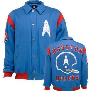 Houston Oilers AFL Wool Varsity Jacket Sports & Outdoors