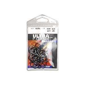 Mustad Hooks O Shaug Live Bait 3x Short Shank X Strong Blk Nickle Size