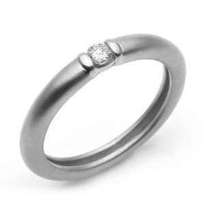 14k White Gold Diamond Wedding Band Ring Size 6 Jewelry