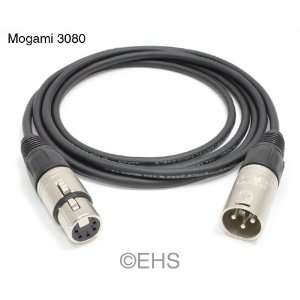 Mogami 3080  3 Pin Male to 5 Pin Female XLR Control Cable: Electronics