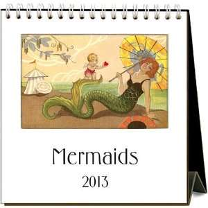Mermaids 2013 Easel Desk Calendar: Office Products