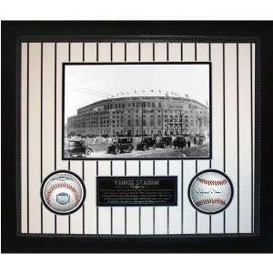 com Yankee Stadium Then & Now Collage w/ Mariano Rivera MLB Baseball