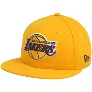New Era Los Angeles Lakers Gold Primary Logo 59FIFTY Flat Bill Fitted