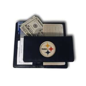 NFL Pittsburgh Steelers Leather Checkbook Cover Sports