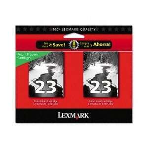 Lexmark 18C1598 Original #23 Black Ink twin Pack Electronics