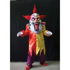 Oversized Evil Clown Costume Red Yellow:  Home & Kitchen