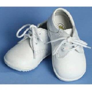 Angels Garment Baby Toddler Boys White Oxford Christening Shoes 1 7