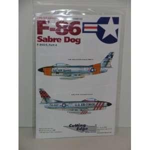 F 86 Fighter Jet Sabre Dog Part 4    Model Aircraft Decals