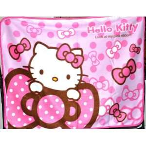 Pink Hello Kitty Throw Fleece Blanket