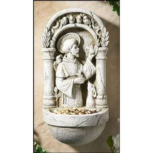 Animals Saint St Francis Bird Feeder Plaque Garden Patio Home Statue