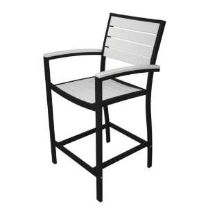 Recycled Plastic Counter Height Arm Dining Chair Patio, Lawn & Garden