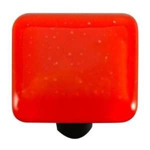 Solids Cabinet Knob in Tomato Red Post Color Black