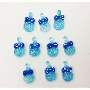 10pc Mini Blue Lollipop Flat Back Resins Cabochons Nail
