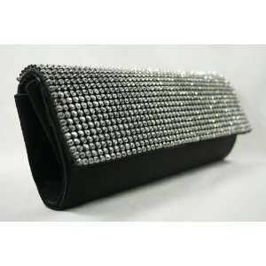 Flap Evening Purse with High Quality Rhinestones