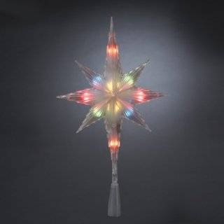 Years LED Lighted Star with Revolving Globe Christmas Tree Topper