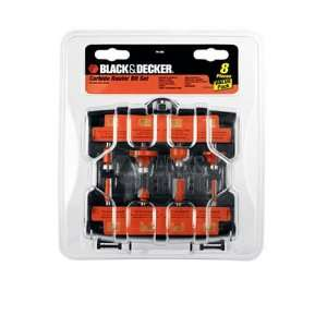 Black & Decker 76 382 8 Piece Carbide Router Bit Set Home Improvement