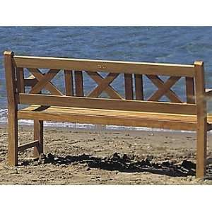 Royal Teak Outdoor Skipper 5 ft Bench: Patio, Lawn
