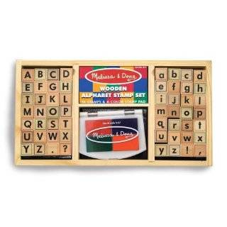 Alphabet Rubber Stamp Set 26 Block Letters Tin: Explore
