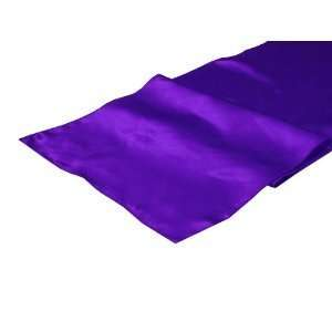 14 inch X 108 inch Purple Satin Table Runner Everything
