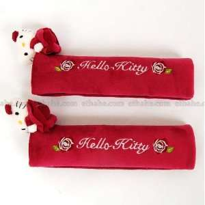 Hello Kitty Plush Seat Belt Cover Shoulder Pads