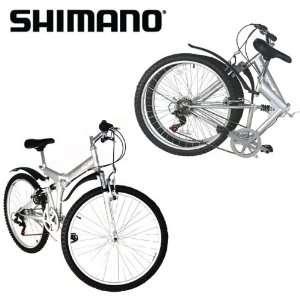 New 26 Folding Mountain Bike Foldable Bicycle 6 SP Speed Shimano