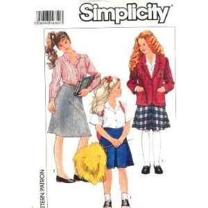 Simplicity Sewing Pattern 9268 Girls Skirts, Blouses & Unlined Jacket