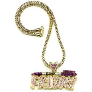 Pink Friday Nicki Minaj Necklace Gold and Pink Pendant