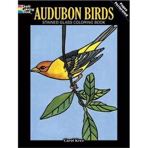 Audubon Birds Stained Glass Coloring Book (Dover Nature Stained Glass