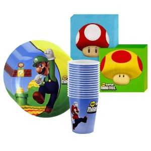 Super Mario Bros. Party Supplies Pack Including Plates
