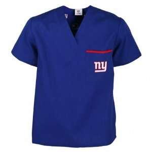 New York Giants Blue Scrub Top Sports & Outdoors