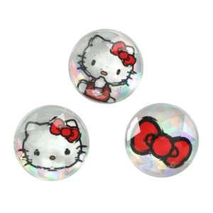 ZuGadgets White Hello Kitty Bow Rhinestones Home Button Stickers for
