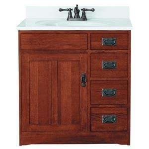 30X21 MISSION OAK VANITY (Sunnywood Prod. FR3021D): Home