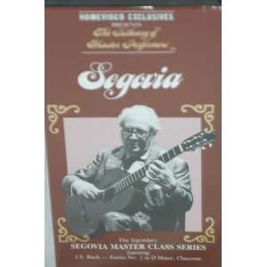 SEGOVIA MASTER CLASS LIBRARY Tape 2 OF MASTER PERFORMERS VHS