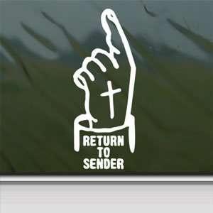 Return To Sender White Sticker Car Vinyl Window Laptop