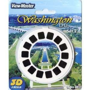 View Master 3D 3 Reel Card Washington DC Set #2 Toys
