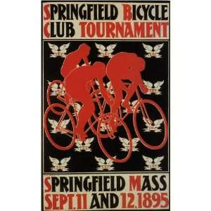Mass Bicycle Bike Cycle Club Tournament 10 X 16 Image Size Vintage