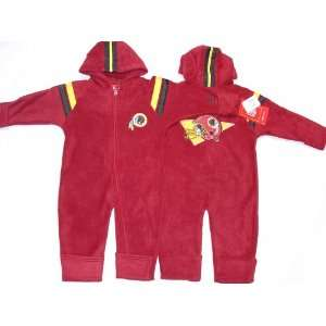 Washington Redskins NFL Reebok Baby Fleece Coverall (Size 18 Months