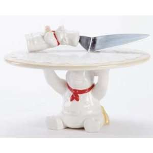 Chef Pig Cake Stand and Server: Kitchen & Dining