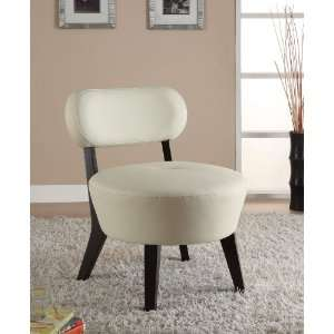 Accent Modern White Bonded Leather Chair