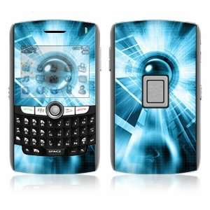 Blue Tech Decorative Skin Cover Decal Sticker for BlackBerry World